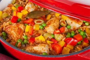 "Slow-Cooker ""Arroz"" con Pollo"