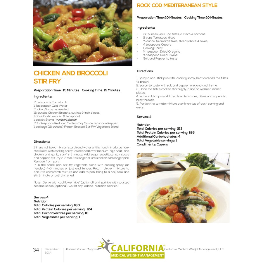 original recipes for dieters from california medical