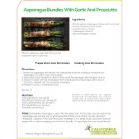 Asparagus Bundles With Garlic and Prosciutto