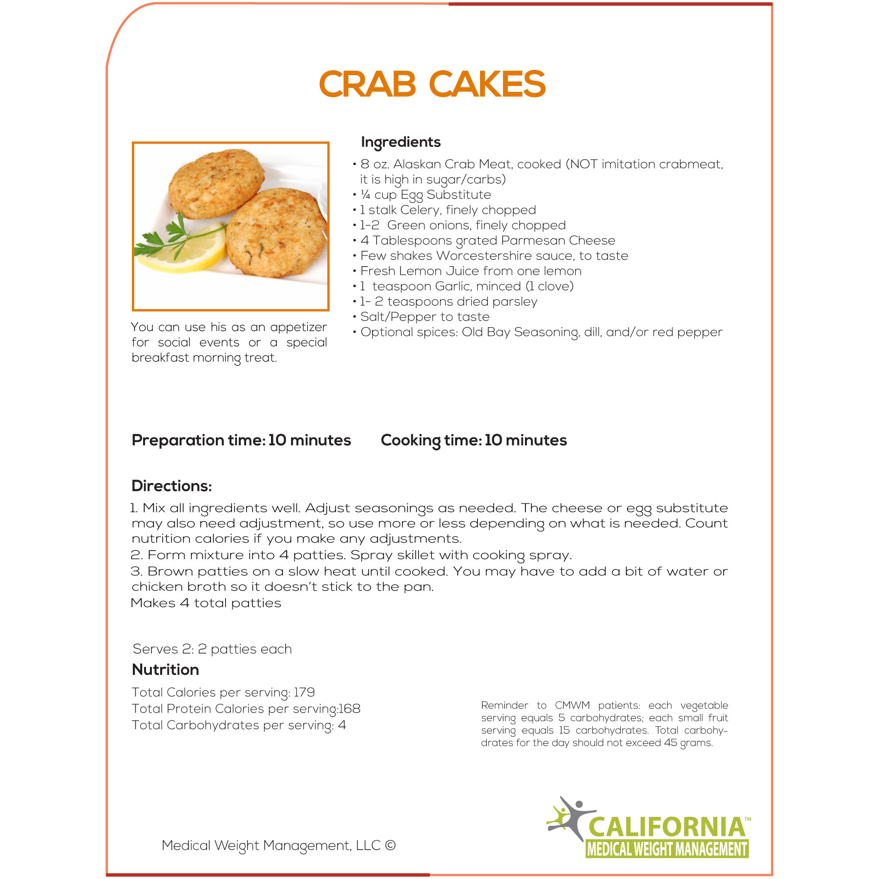 Nutrition In A Crab Cake